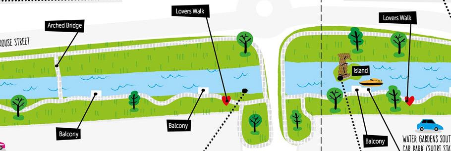 RECENT PROJECT - Hemel Hempstead Water Gardens Map