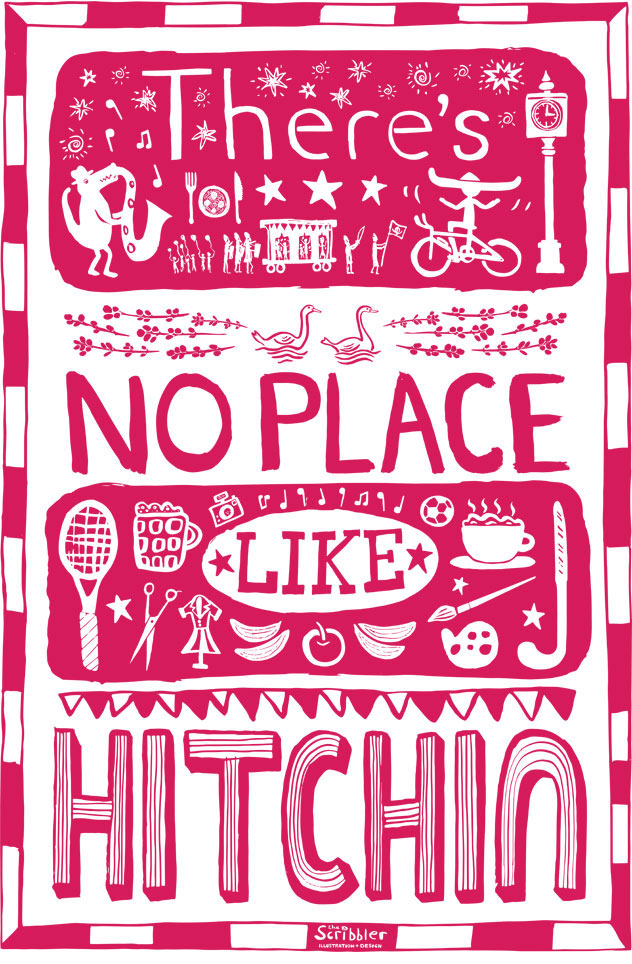 Hitchin Tea Towel
